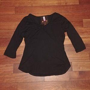 NOBO crochet back knot neckline XXL NWT 1/4 sleeve